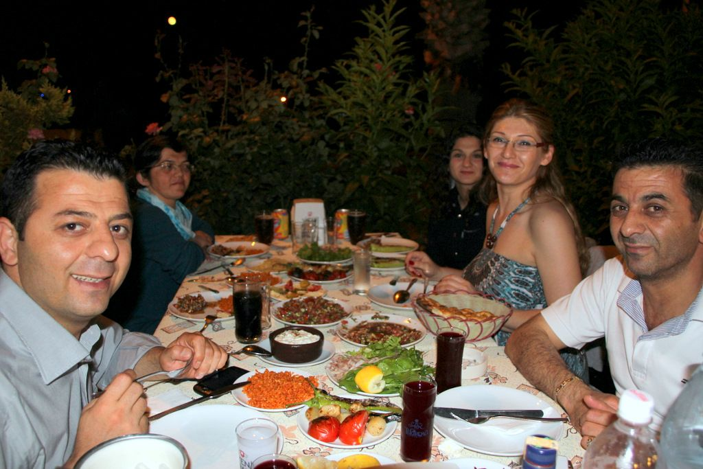 Diner with my beautiful Turkish family