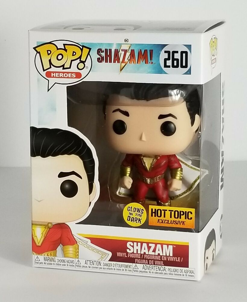 42799a31a1f Funko Pop! SHAZAM - DC  260 - Glow in the Dark Hot Topic Exclusive ...