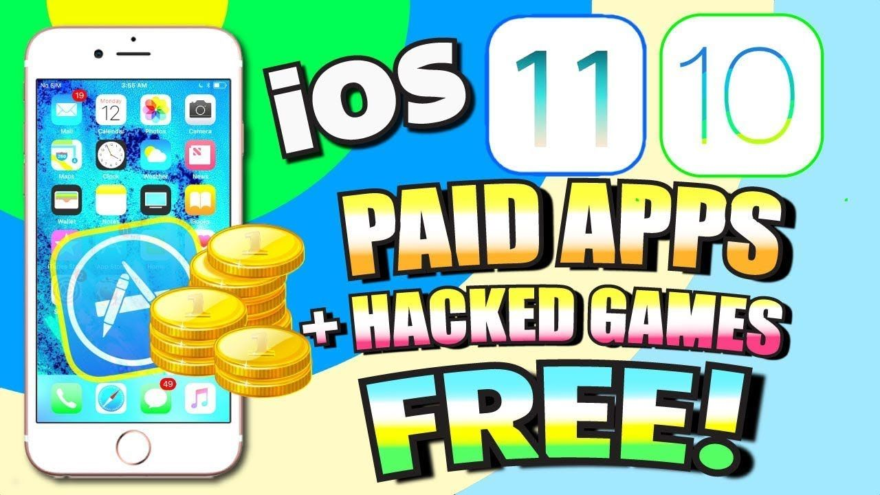 Get PAID Apps for FREE + HACKED Games iOS 11/10 (NO