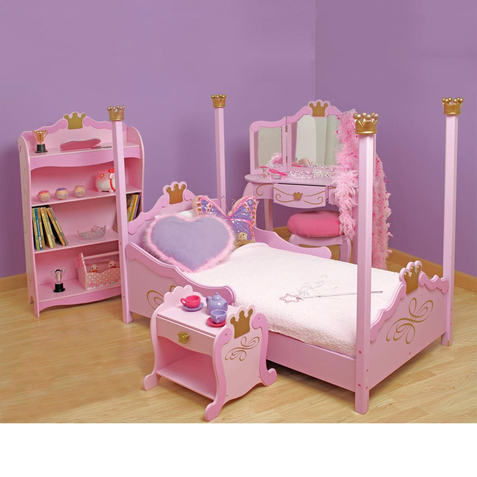 Cute toddler beds for girls for Princess style bedroom furniture