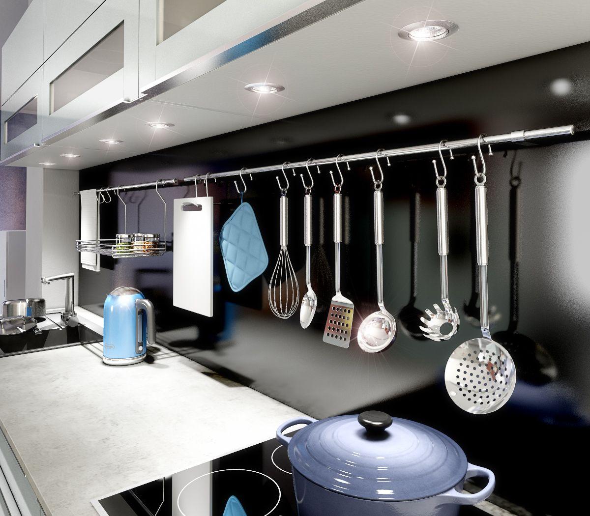La Barre De Credence En Inox Ideale Pour Avoir Ses Accessoires De Cuisine A Portee De Main Accessoires Cuisine Mobilier De Salon Cuisine You