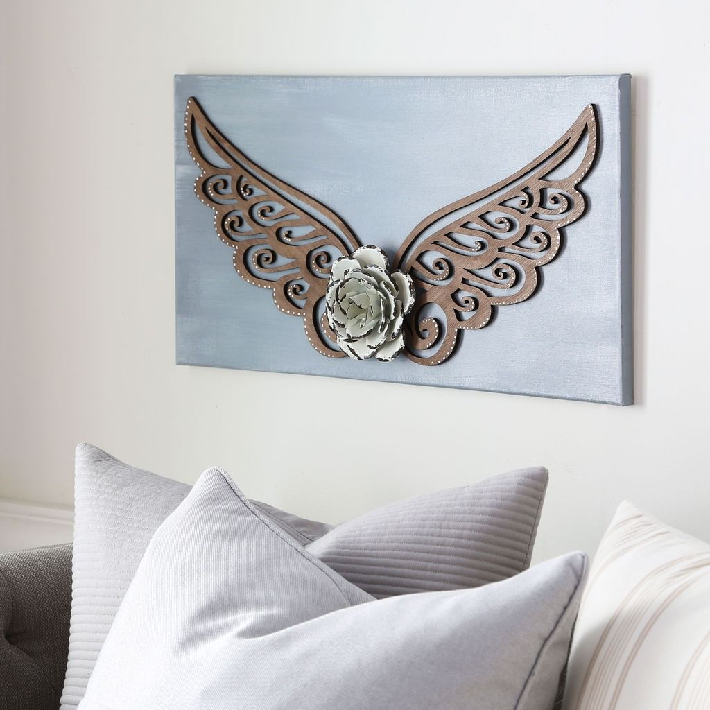 It\'s easy to make this DIY Stained Angel Wing Wall Art for your home ...