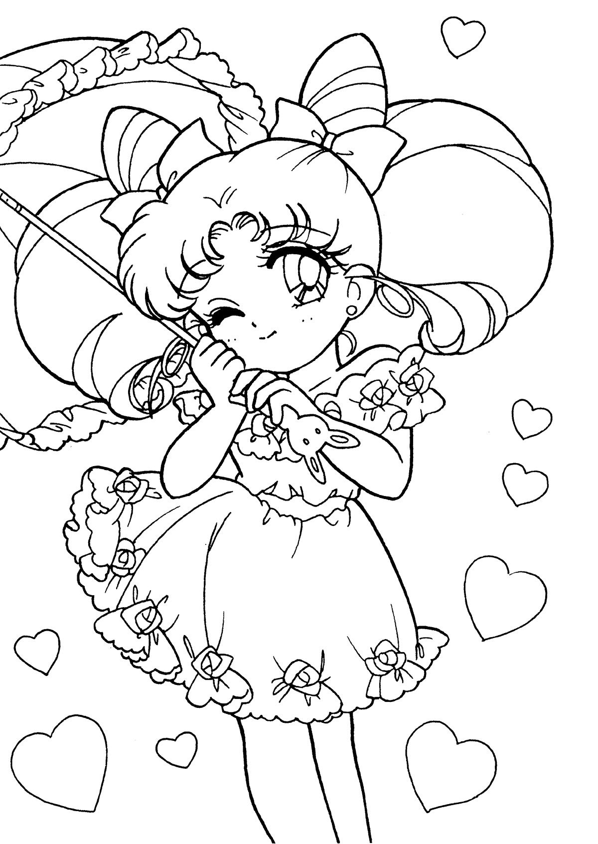 Coloring book pages pinterest - Tsuki Matsuri The Sailormoon Coloring Book Archive