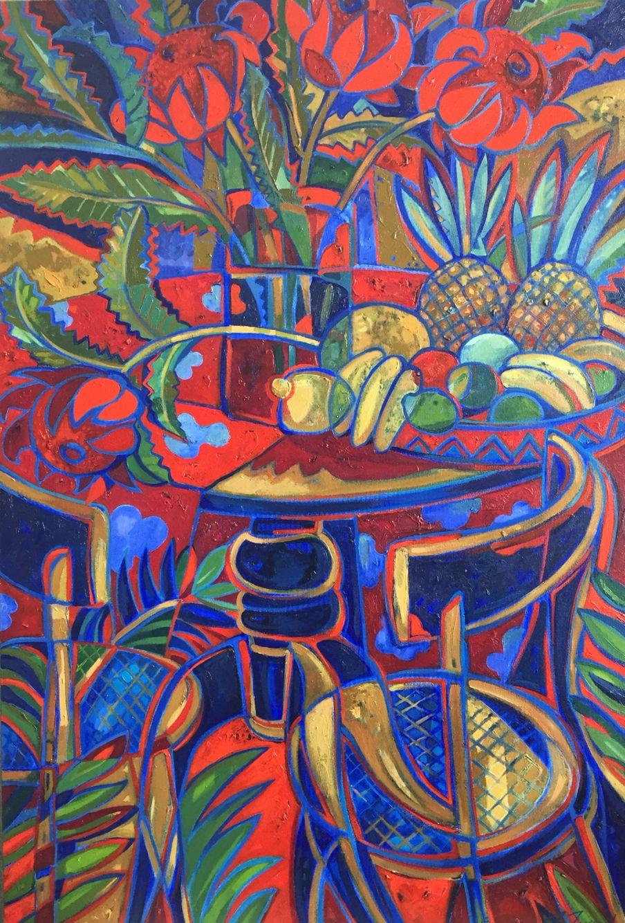 'Grandmas Table'  By Frances Fussell  Oil $3300  #cstudiosartgallery
