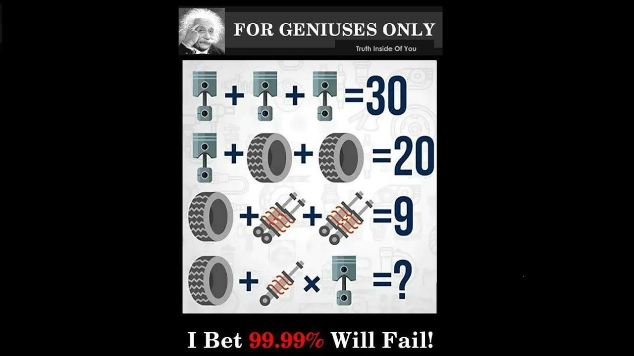 for genisuses only i bet you will fail
