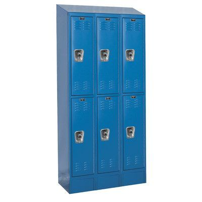 "Hallowell ReadyBuilt II 2 Tier 3 Wide Box Locker Color: Marine Blue, Size: 78"" H x 36"" W x 15"" D"