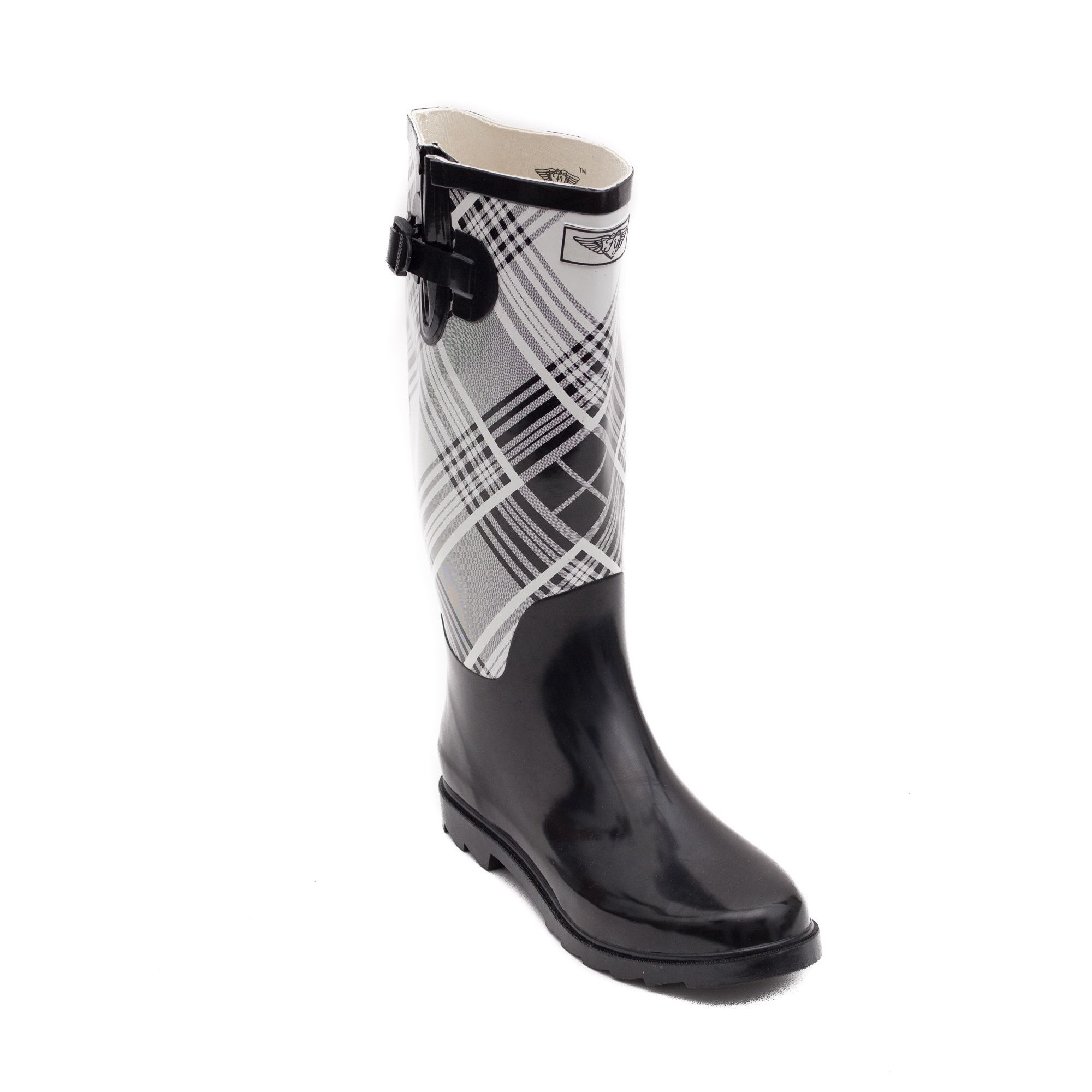 ade95e5cd85 Forever Young Women's and White 14-inch Rain Boots | Products ...