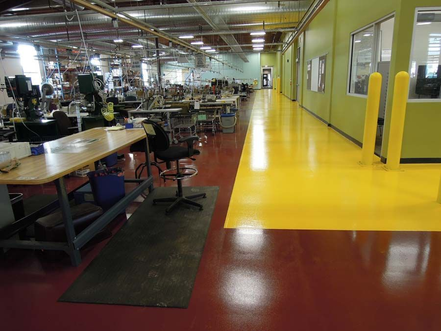 Industrial Floor Coating With Safety Yellow Walk Way Coating Floor Industrial Safety Walk Yellow In 2020 Industrial Flooring Floor Coating Flooring