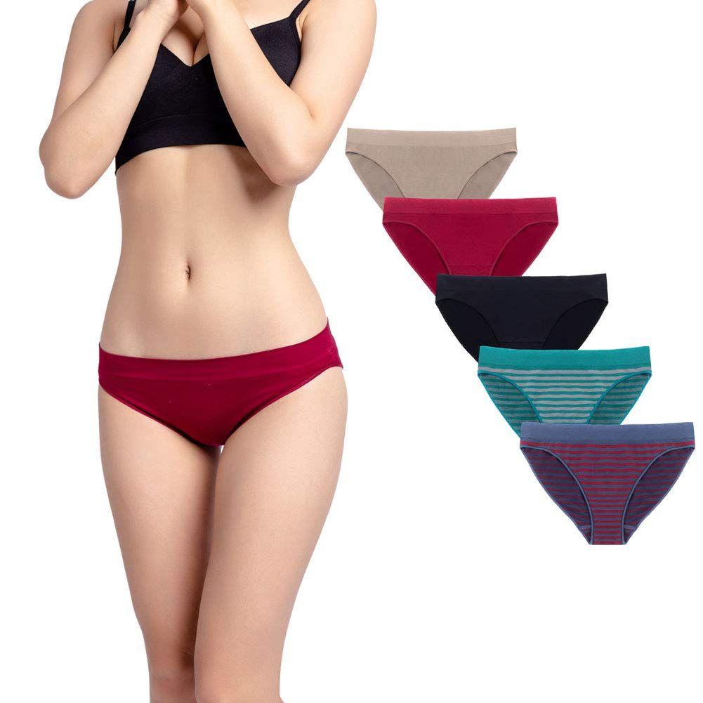 Women/'s Bikini Panties Size 7 Pack of 5