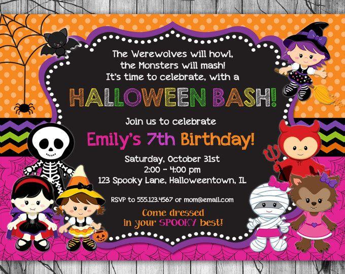 halloween invitation kids printable halloween birthday invitation