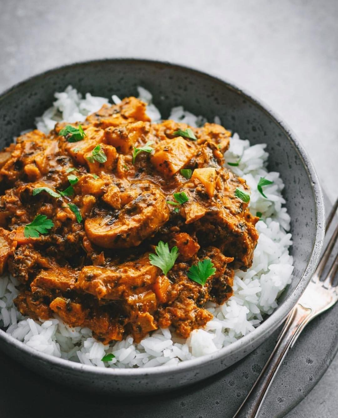 Vegan Recipes On Instagram Mushroom Sweet Potato Curry
