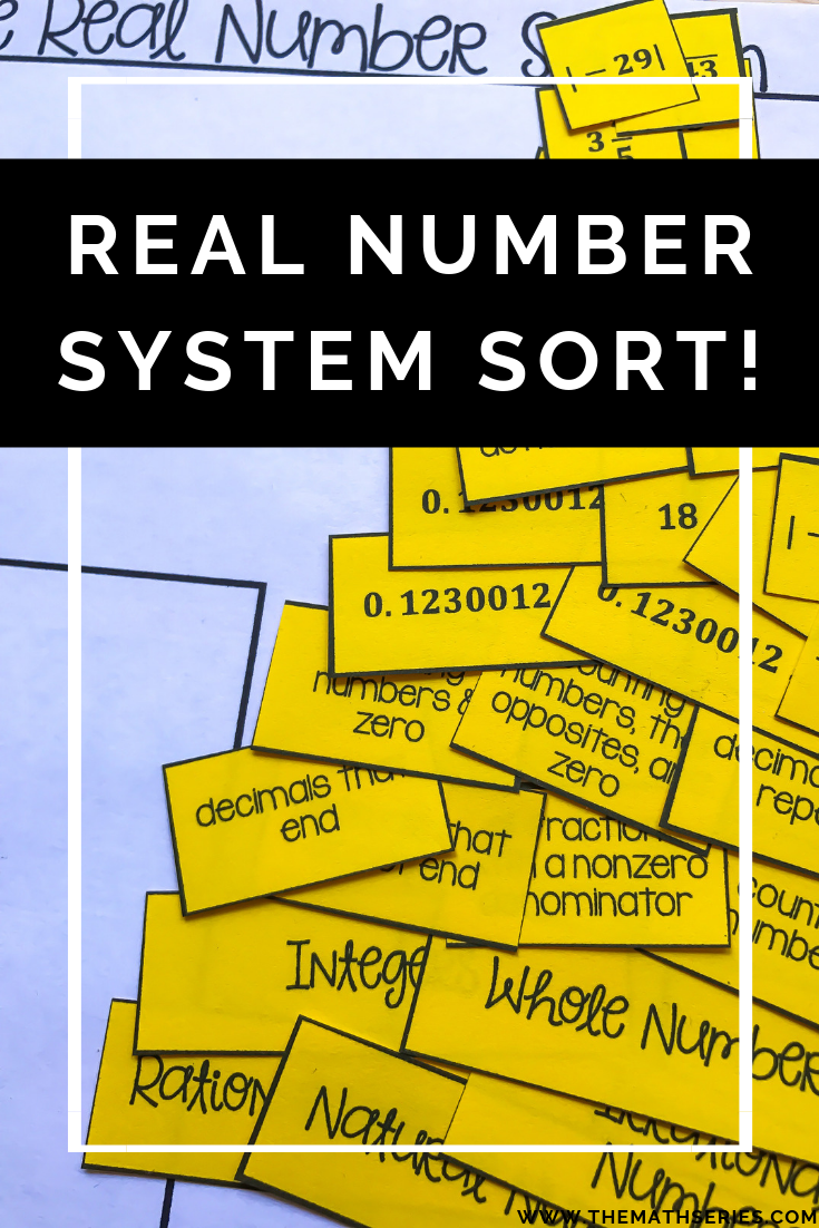 The Real Number System Activities (maze & sort) Real