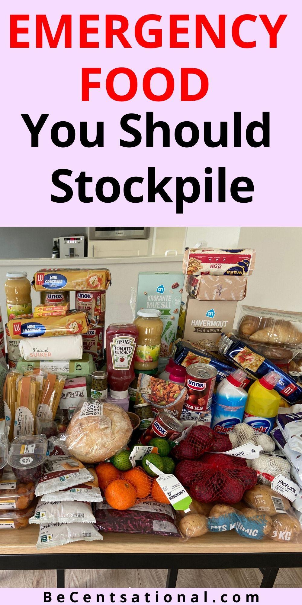 Foods with a long shelf life emergency preparedness kit