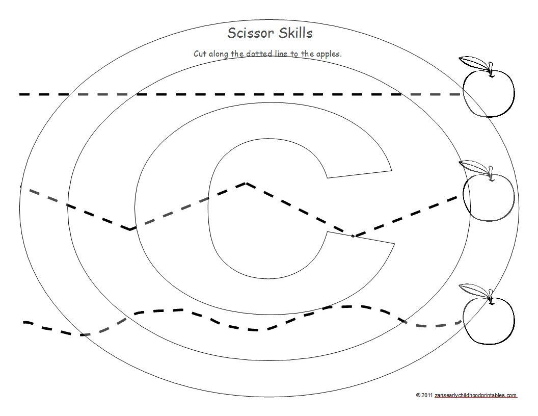 Apple Activities Apple Scissor Skills Worksheets