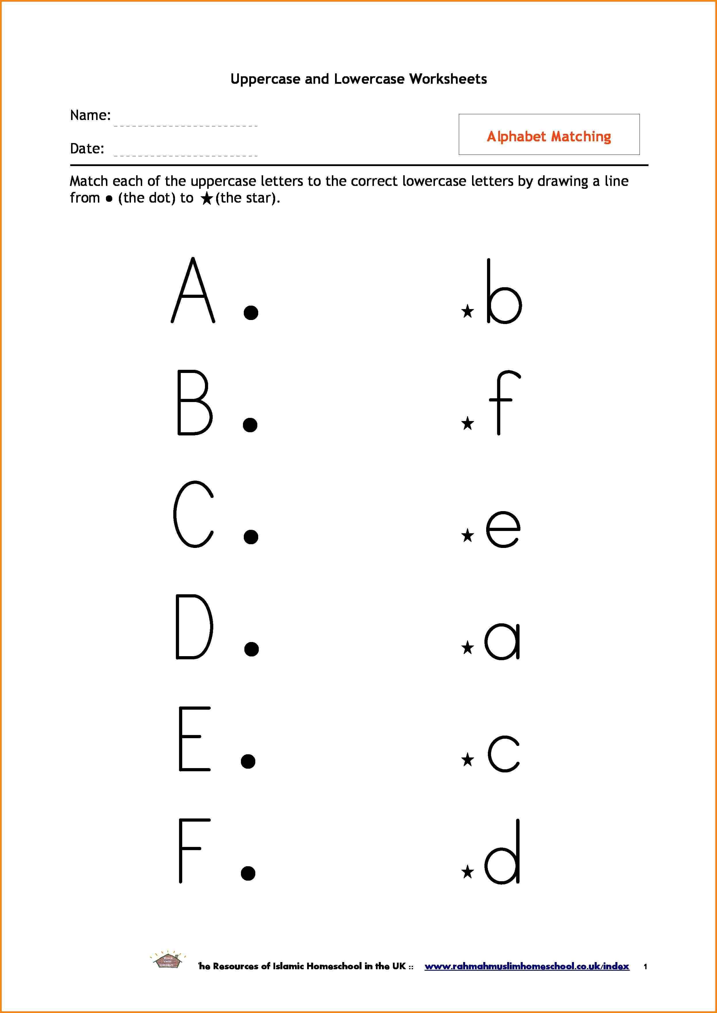 Letters Matching Worksheets Worksheets For All Alphabet Letter Worksheets Lowercase Letters Printable Letter Recognition Worksheets