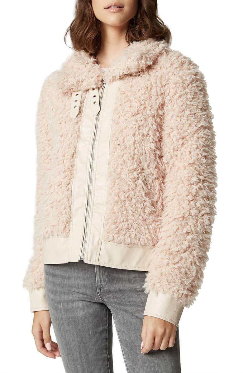 BLANKNYC Womens Faux Fur Color Coat