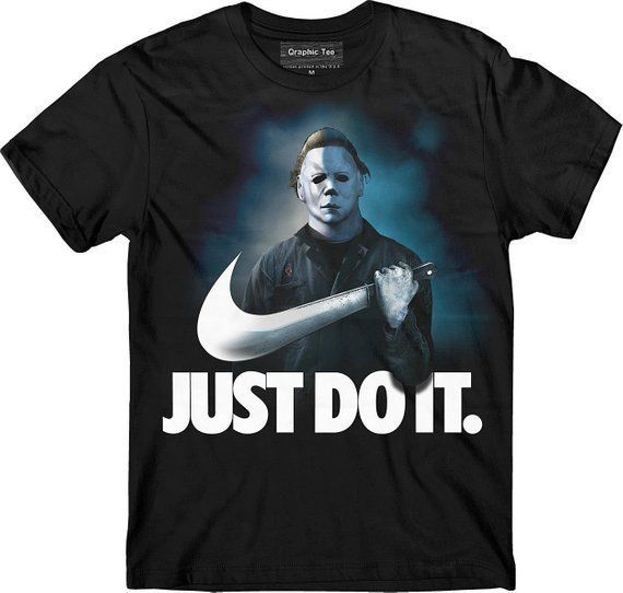 ac3b002d Michael Myers Halloween Just Do It Shirt Funny Nike Parody Horror Movie  Scary #fashion #clothing #shoes #accessories #mensclothing #shirts (ebay  link)