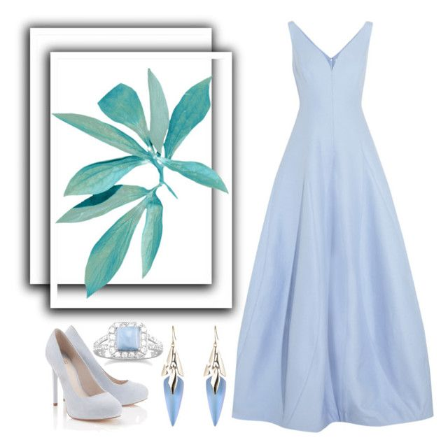"""""""Untitled #494"""" by scarlet-fltcher ❤ liked on Polyvore featuring Halston Heritage, Lipsy, BillyTheTree and Alexis Bittar"""
