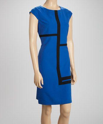 Shelby Palmer And Voir Voir Styles44 100 Fashion Styles Sale Color Block Shift Dress Blue Black Color Dresses