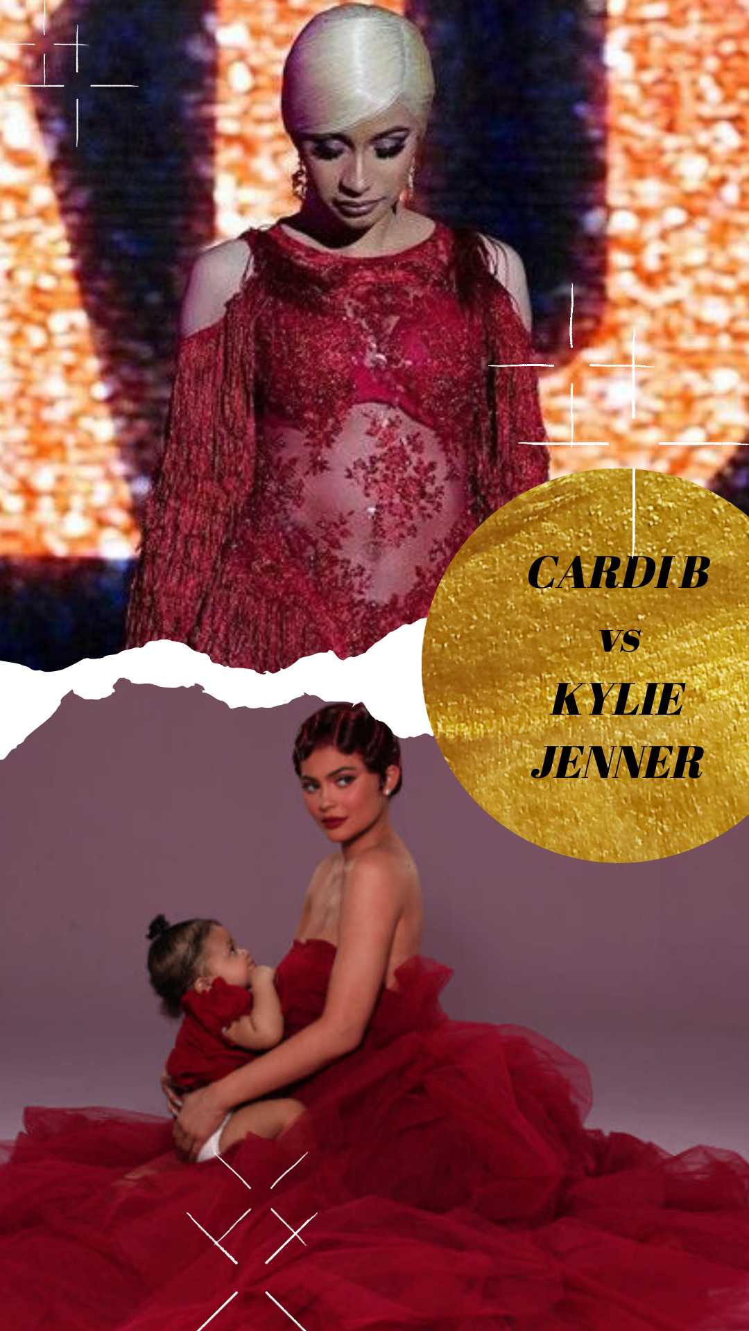 See who is being copied?Kylie Jenner vs Cardi B QuizBurgundy Color Outfit