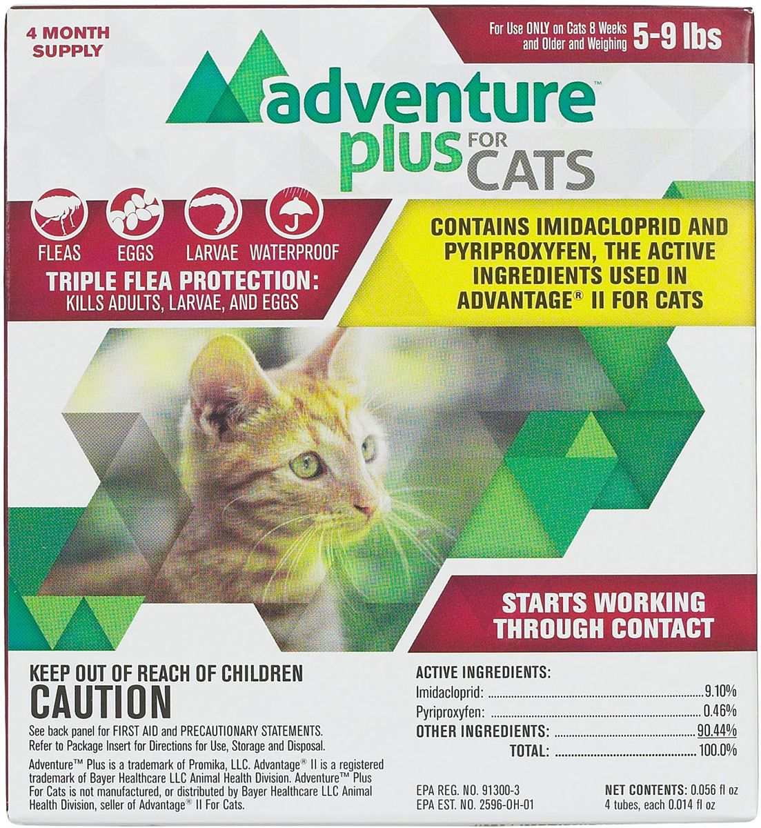 Adventure Plus For Cats 4 Pk 5 9 Lbs Fleas Cats Flea Prevention For Cats