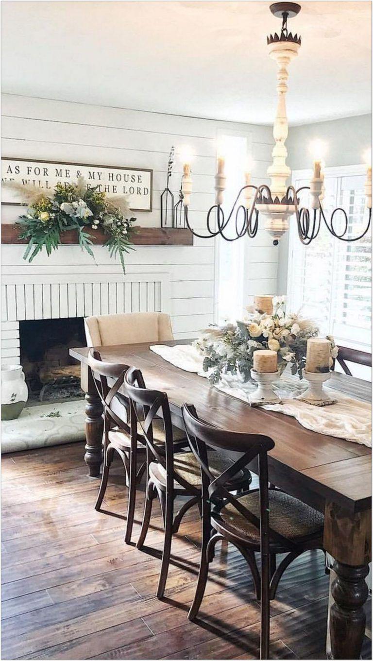 Salle A Manger Retro 25+ gorgeous farmhouse dining room table decor ideas 12