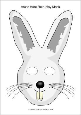 Arctic Hare Role Play Mask Sb10263 Sparklebox Arctic Hare