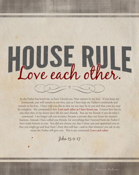 free printable - House Rule - Love each other.