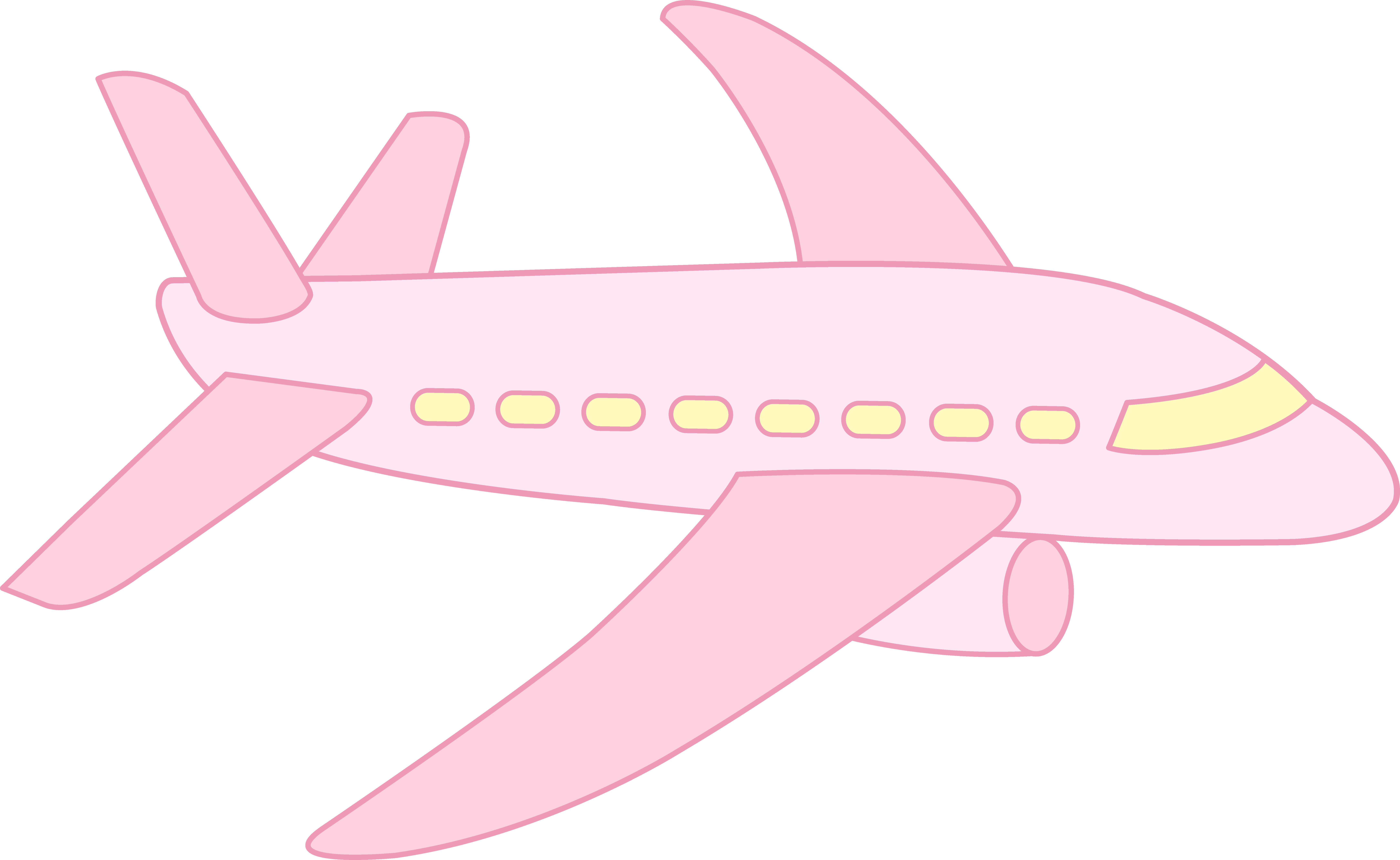 cute airplane cute pink airplane free clip art [ 8669 x 5328 Pixel ]
