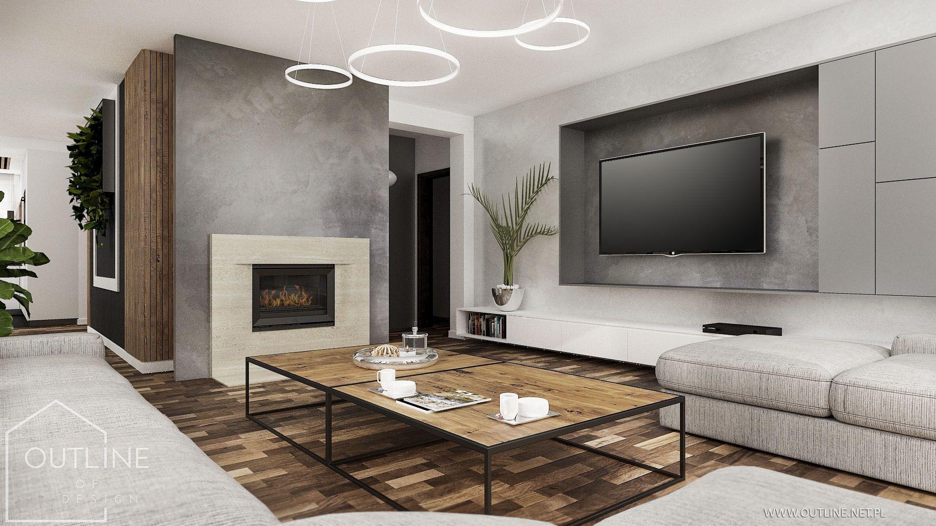 Nowoczesny Salon Z Kominkiem Living Room Tv Unit Designs Living Room Tv Living Room Tv Unit