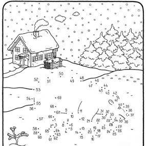 Coloriage points relier quel est ce gros animal dans - Coloriage magique hiver ...