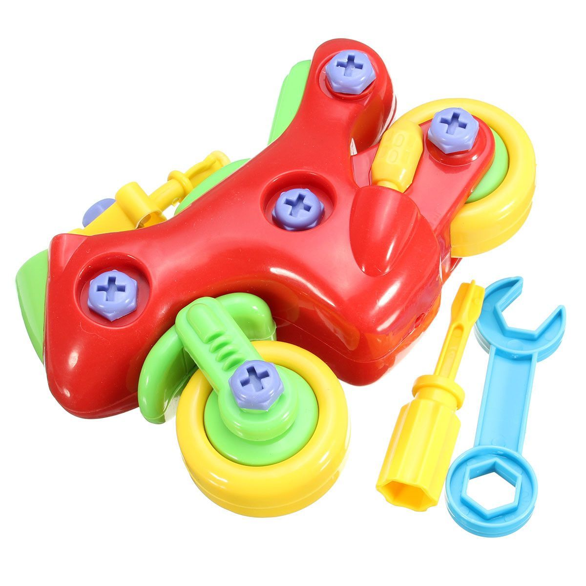 DIY Assembly Motorcycle Toy Model Building Kid/'s Educational Tinker toys