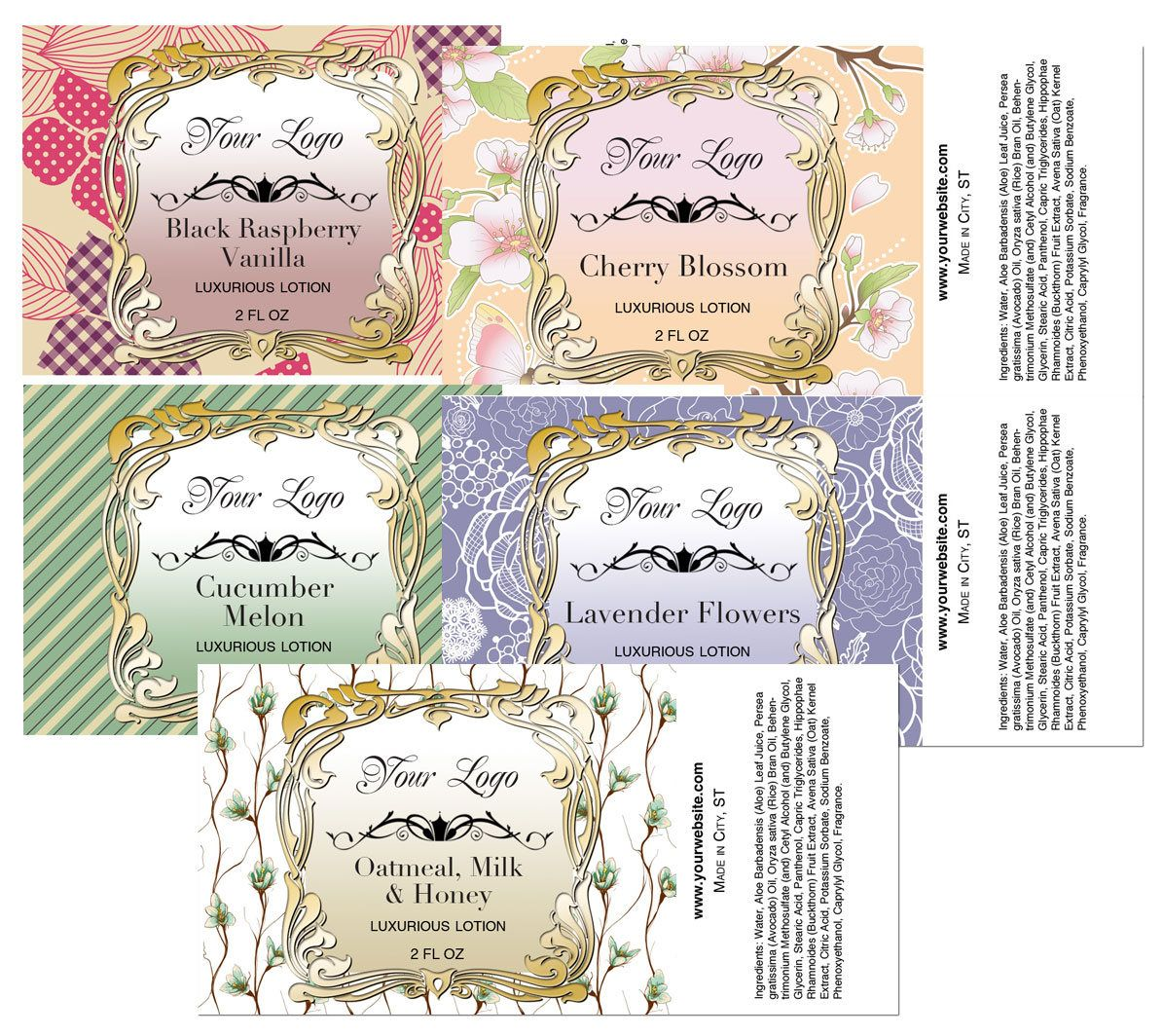 Premade Labels, Lotion Label Template, Body Spray Label, Customized Labels,  Graphic Design