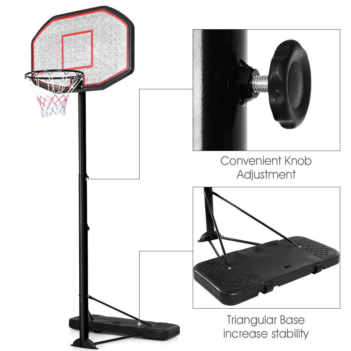 60 Off Et8c8wln 6 5 10 Ft Height Adjustable Basketball Hoop 43 Portable Basketball Syst Basketball Hoop Adjustable Basketball Hoop Portable Basketball Hoop