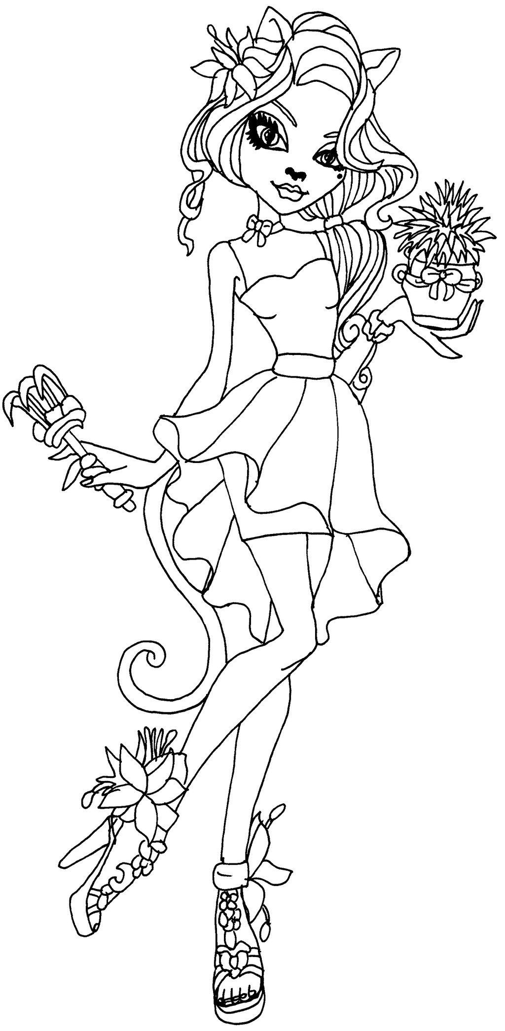 Free Monster High Coloring Pages For Kids Free Coloring Sheets Monster Truck Coloring Pages Monster Coloring Pages Cute Coloring Pages