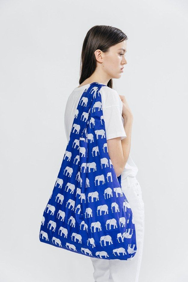 This handy reusable shopping bag. | 32 Products Every Elephant Lover Needs In Their Home