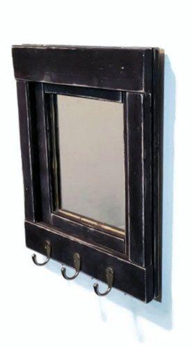 Robot Check Farmhouse Mirrors Mirror Key Holder Wood Framed Mirror