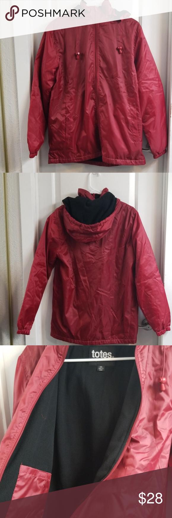 Ladies Totes Fleece Lined Rain Jacket Sz Small Womens Tote Jackets Rain Jacket