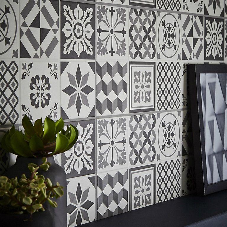 Konkrete Grey Matt Ceramic Wall Tile Pack Of 14 L 500mm W