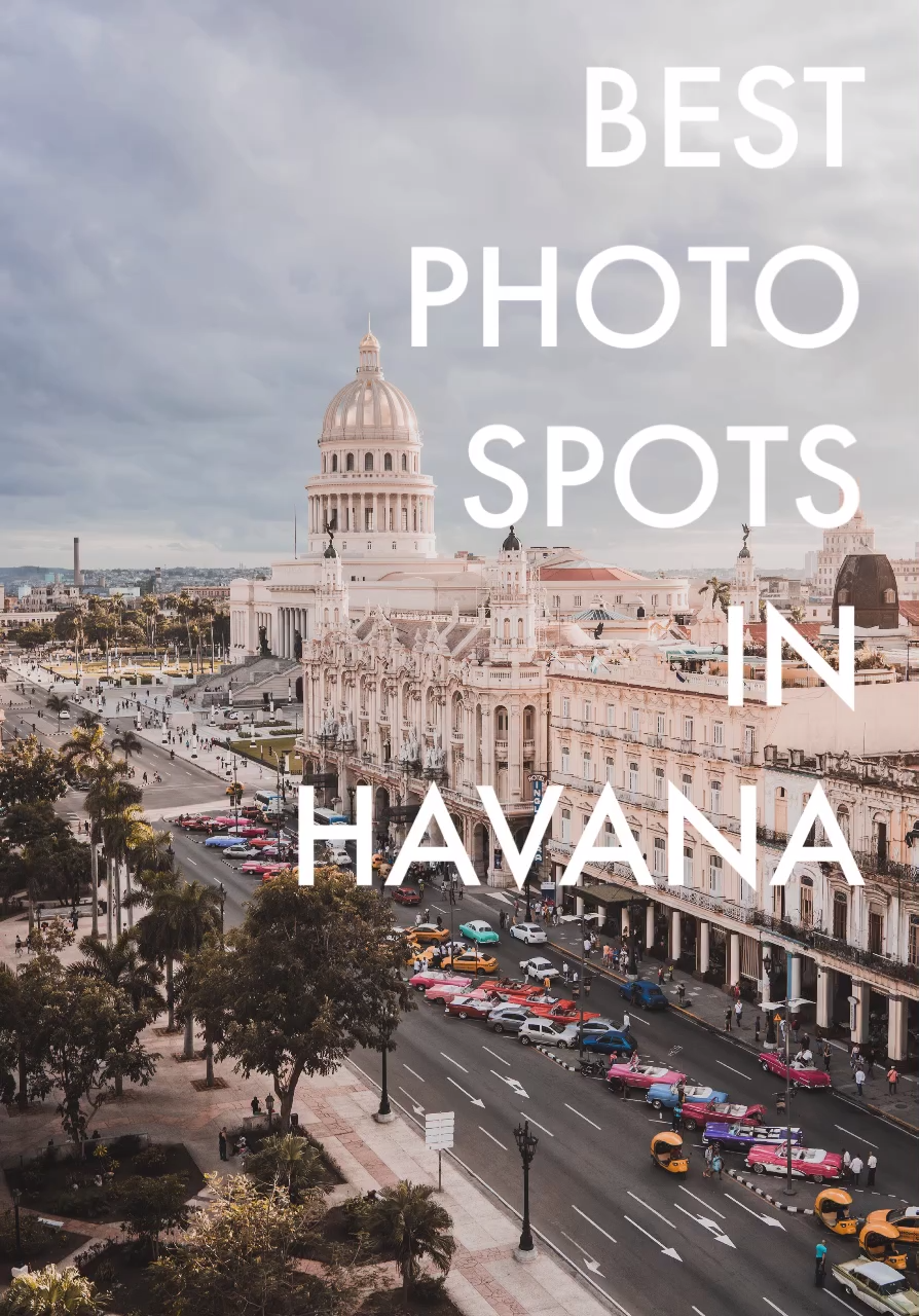 Havana, Cuba is one of the most photogenic cities in the world. Read this post to find out about the most Instagrammable places and photo spots in Havana!