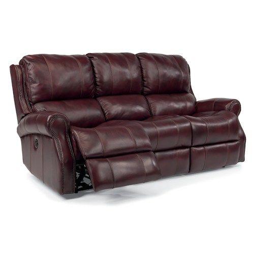 Flexsteel Latitudes Miles Traditional Power Reclining Sofa With