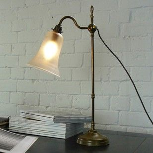 BRASS ADJUSTABLE LIBRARY DESK LAMP - The Hoarde