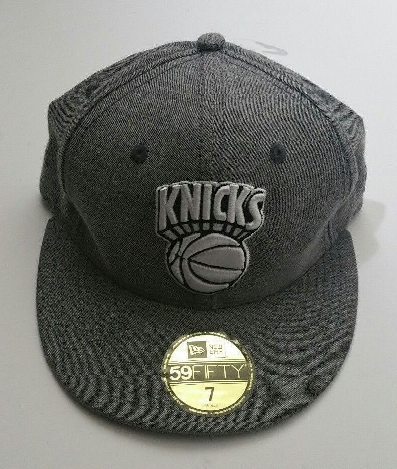 0f03ab23 New York Knicks New Era 59Fifty Hardwood Classics Cotton Gray Fitted ...