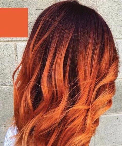 twilight orange red balayage kurze haare hair. Black Bedroom Furniture Sets. Home Design Ideas