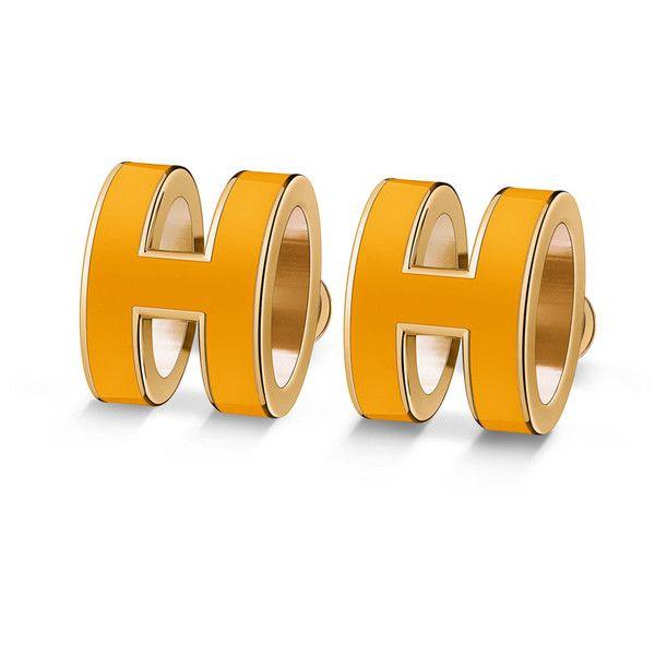 Hermès Pop H earrings (2.920 NOK) ❤ liked on Polyvore featuring jewelry, earrings and earring jewelry