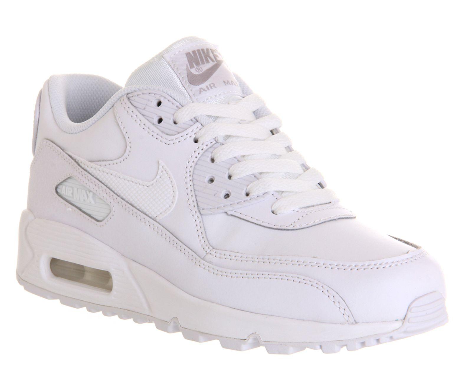 online retailer 7f39c 8704d Nike Air Max 90 Gs White Mono - Unisex