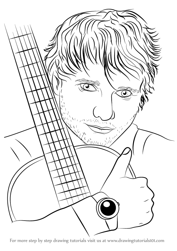 Learn How To Draw Ed Sheeran Singers Step By Step