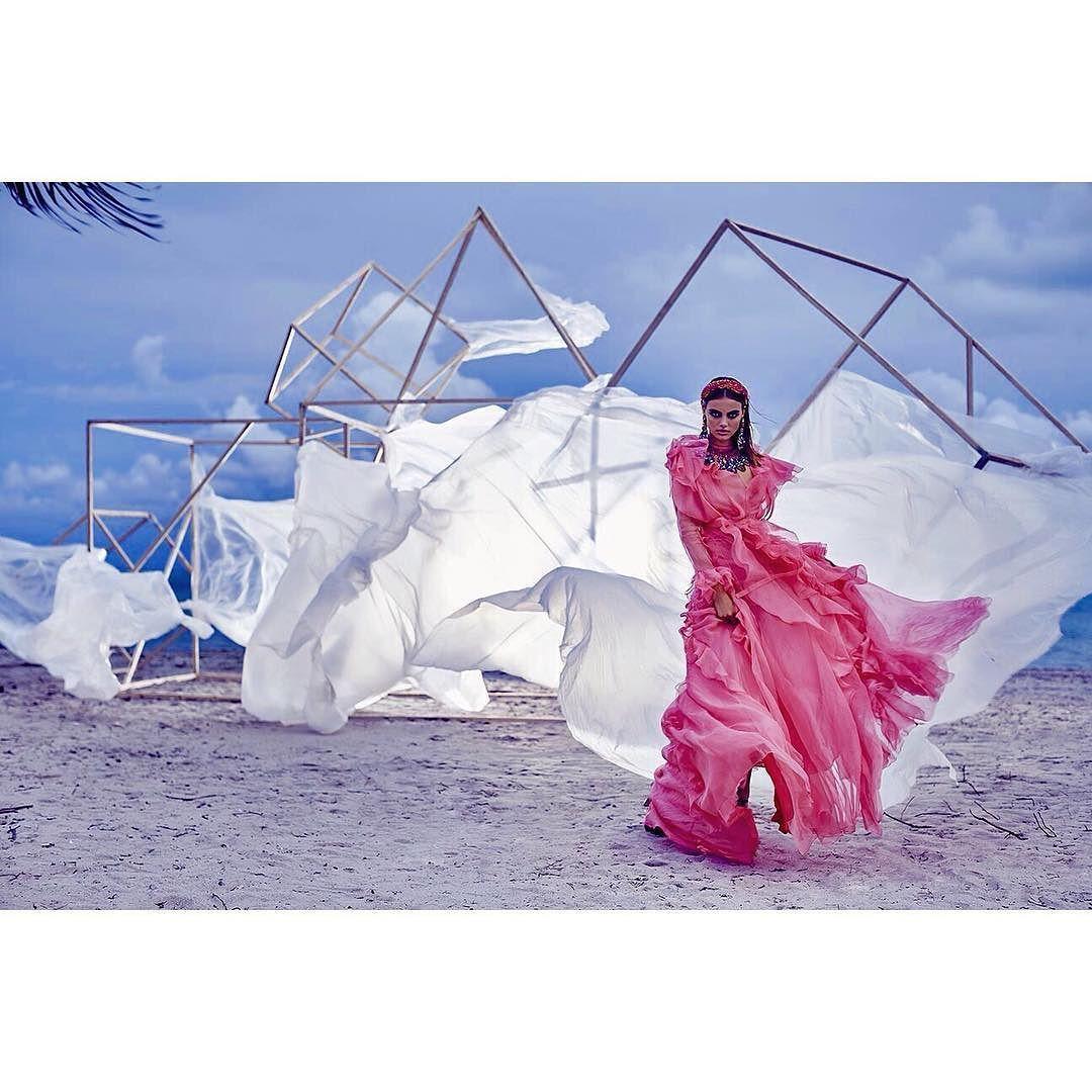 New work @fashioncanada @chrisnichollsphotography @heather_blaine @krisic3 @elizagrossman #styledbyme @zeinaesmail wearing the most incredible @gucci dress @lucianmatis @caroletanenbaum @p1m_toronto #fashionshoot #fashioncrown #gucci #ruffles #fashionmagazine #beachparty #setbuiltbychrisnichollsbrancoclive #pinkparty by zeinaesmail