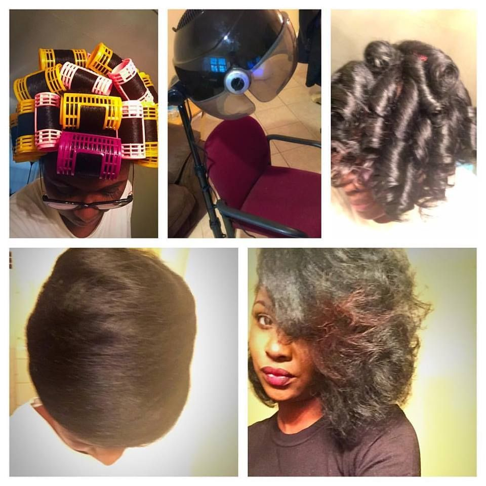 14 Outstanding Roller Wrap Hairstyles Fashion Hair Styles Hair Rollers Natural Hair Styles
