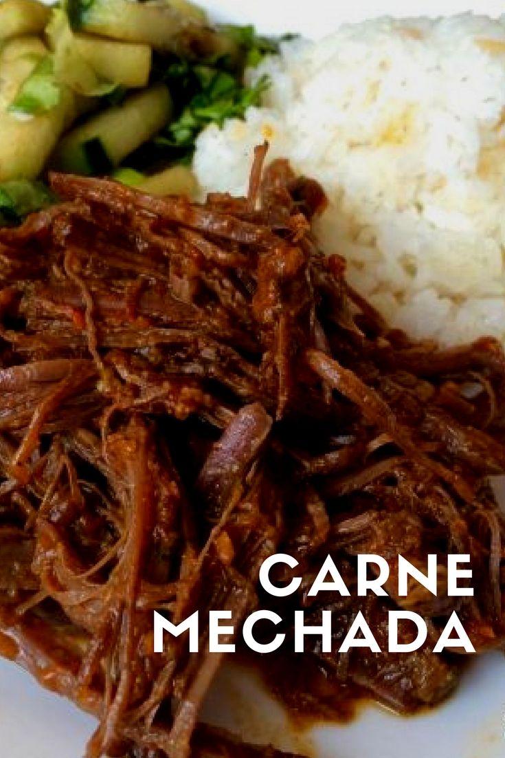 Como Hacer Carne Mechada Receta En 2020 Con Imagenes Carne Mechada Recetas Con Carne De Res Carne Desmechada